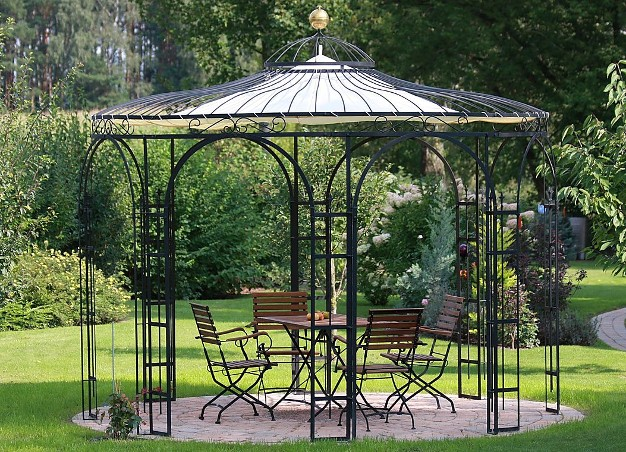 gartenpavillon metall eisenpavillon pavillon schmiedeeisen. Black Bedroom Furniture Sets. Home Design Ideas
